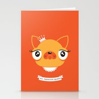 Ms. Frenchie Queen Stationery Cards