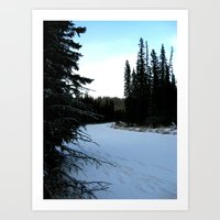 Wintertime In WaterValle… Art Print