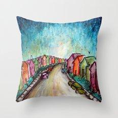 The Street Near My Street Throw Pillow