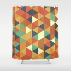 Triangle Pattern II Shower Curtain