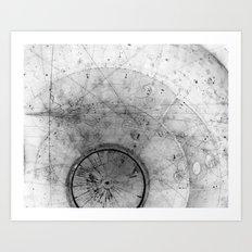 Particle Tracks Art Print