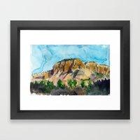 sunset in the valley Framed Art Print