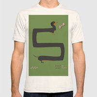 Dachshund Mens Fitted Tee Natural SMALL