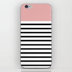 Pinstripe Color Block (Coral) iPhone & iPod Skin
