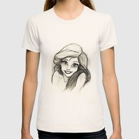 Ariel Womens Fitted Tee Natural SMALL