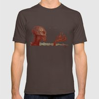 The Talk Mens Fitted Tee Brown SMALL