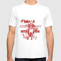 Take A Journey With The Lady Mens Fitted Tee White SMALL