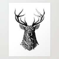 Ornate Buck Art Print
