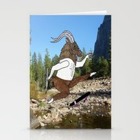Baphomet's sixth failed attempt over a creek in Yosemite, which resulted in him focusing his board. Stationery Cards