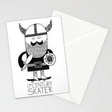 11th Century Skater - White Stationery Cards