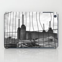 BATTERSEA POWER STATION BEHIND BARRIERS iPad Case