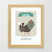 Merry Christmas - Going Cold Turkey from Shopping Sprees Framed Art Print