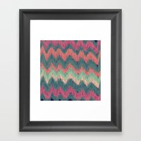 IKAT CHEVRON Framed Art Print