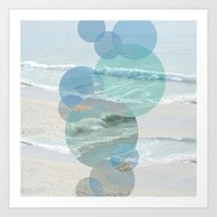 Shoreline Circles Art Print