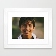 Brown Eyes Framed Art Print