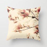 Magnolia Days Throw Pillow