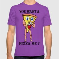 You Want A Pizza Me ? Mens Fitted Tee Ultraviolet 2X-LARGE