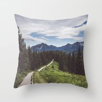 Greetings from the trail Throw Pillow