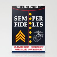 US Marine Corps, USA. Stationery Cards