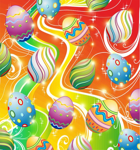 Happy Easter Eggs Ornamental Design Art Print