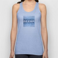 Dream watercolor mosaic typography Unisex Tank Top