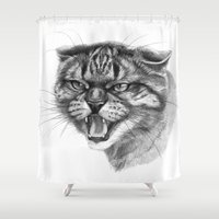 Wicked Cat portrait G131 Shower Curtain