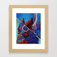 Framed Art Print featuring The Pull Of Surrender by Anthony Hurd