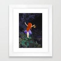 what's in the dark? Framed Art Print