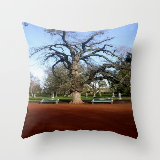 Elm Tree Throw Pillow