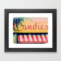 Margie's Candies ~ Vinta… Framed Art Print