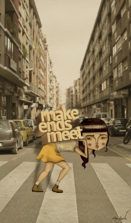 make ends meet Art Print