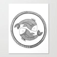 Zodiac Sign Pisces Canvas Print