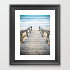 Florida Beach Walkway Framed Art Print