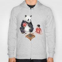 Playing Go With Panda Hoody