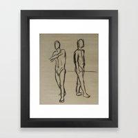 Standing Sketches Framed Art Print