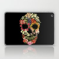 Floral Skull Vintage Black Laptop & iPad Skin