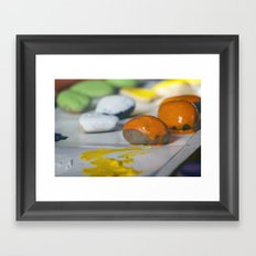 Game Pieces Framed Art Print