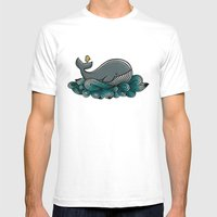 Tale Of A Whale Mens Fitted Tee White SMALL