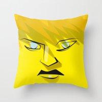 Post It Portrait: Deena … Throw Pillow