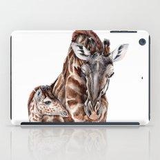 Giraffe with Baby Giraffe iPad Case