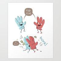 High Five (gloves Versio… Art Print