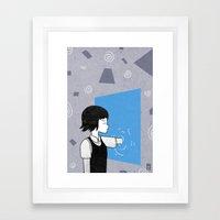 She and portals Framed Art Print