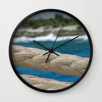 Rope by the sea Wall Clock
