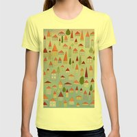 100 little houses Womens Fitted Tee Lemon SMALL