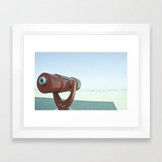 BEACHY SPYGLASS Framed Art Print