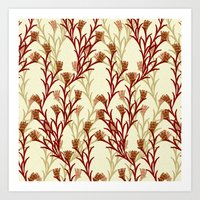 autumn pattern Art Print