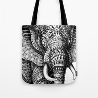 Ornate Elephant v.2 Tote Bag