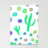 Bright cactus pattern Stationery Cards