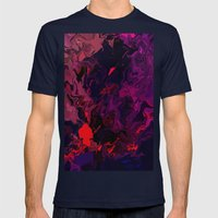 Facing Life Mens Fitted Tee Navy SMALL