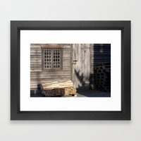Shades of Textured Old Framed Art Print